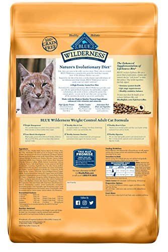 Blue Buffalo Wilderness High Protein, Natural Adult Weight Control Dry Cat Food, Chicken 11-lb 8