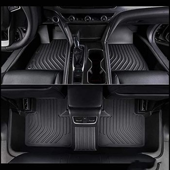 Car Floor Mats for BMW M5 2018 2019 2020, 3D All Weather Floor Liners Odourless Rubber Full Cover Floor Mats Tailored Durable Waterproof Non Slip Heavy Duty Easy to Clean(Black)
