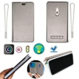 Case for IMO Q2 Plus Case Silicone Protection Ring + Flip Cover Stand Shell Silver