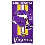 WinCraft NFL Minnesota Vikings Towel30x60 Beach Towel, Team Colors, One Size