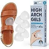 Dr. Frederick's Original High Arch Support Gel Inserts - 6 Pcs - Peel & Stick SuperComfort Gel - Great for Sandals - Dress Shoes - Women & Men