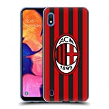Head Case Designs Ufficiale AC Milan in Casa 2018/19 Kit Cresta Cover in Morbido Gel Compatibile con Samsung Galaxy A10 (2019)