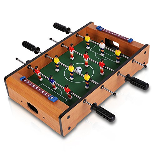 Virhuck Mini Table Top Foosball 20 Inches Soccer Game Table 20.08 12.20 4.13 Inches Indoor & Outdoor Soccer Game Kids Toy