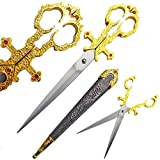 Ace Martial Arts Supply Medieval Renaissance Scissors Bodice Dagger Dirk Knife (Gold)