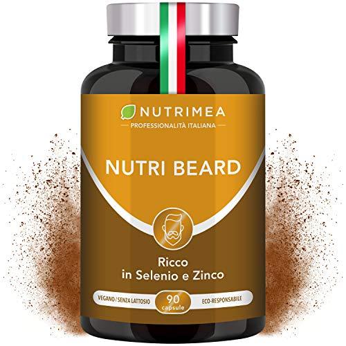 Crescita Barba Uomo Plus | Cheratina Zinco Vitamina D3 B12 B6 B2 MSM | Stimola la Crescita della Barba | Barba Più Forte | Uomo