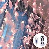 Danolt 300 LED Rose Plumes Fée Guirlande Lumineuse avec 8 Modes de Lumière...