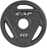 CAP Barbell 2-Inch Olympic Grip Plate, Various Sizes (Olympic Grip Plate, 10-Pounds)