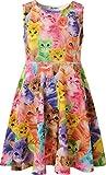 Jxstar Girls Dress 4-6x Spring Dress for Girl Toddler Girl cat Toys cat Costume cat Clothes cat Design Dress 120