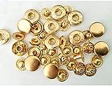 Yeaser - Juego de cierres a presión de botones de metal para chaqueta de abrigo de piel, 13 mm, 100 juegos (#A)