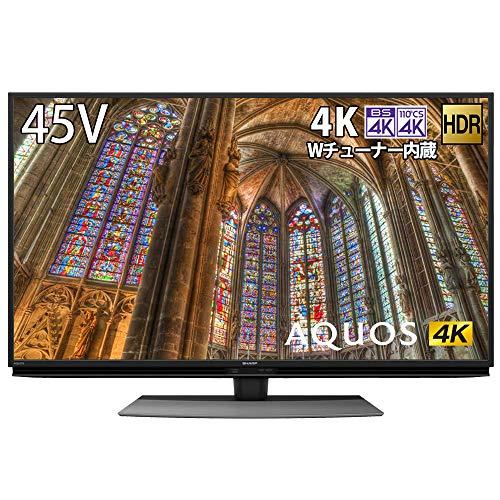 シャープ 4K チューナー内蔵 液晶 テレビ Android TV HDR対応 AQUOS 45V型 4T-C45BL1