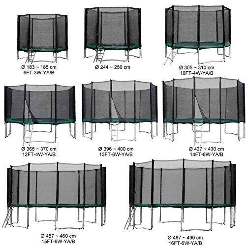 Baunsal GmbH & Co.KG Gartentrampolin Kindertrampolin Trampolin 366 bis 370 cm grün komplettes Set mit Sicherheitsnetz und Einstiegsleiter …