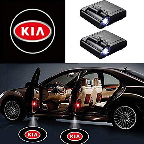 MIVISO LED Proiettore per auto, 2 pezzi Luce della porta di benvenuto, Ombra magnetica universale...