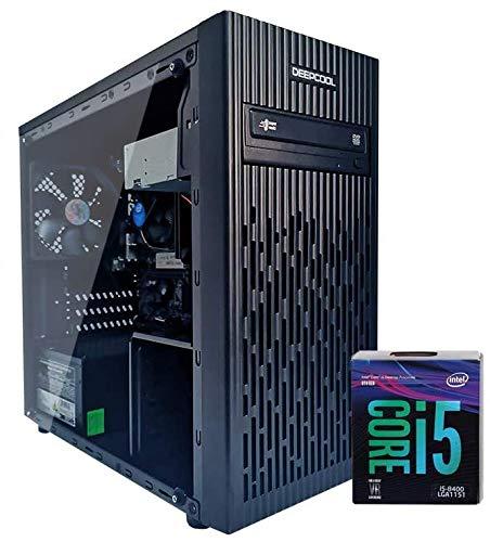 PC DESKTOP INTEL i5 8400 4,00 GHZ • GRAFICA INTEL UHD 630 • 8GB DDR4 • WINDOWS 10 PRO • 1TB HDD • SSD 240 GB • PC ASSEMBLATO PC FISSO DA UFFICIO CASA COMPLETO HD PRONTO USB 3.0 • CASE BLACK ELEGANTE