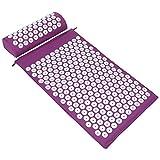 ValueHall Kit d'acupression, Tapis de Massage d'Acupression et Coussin d'Acuponcture avec Oreiller V7009-1 (violet)