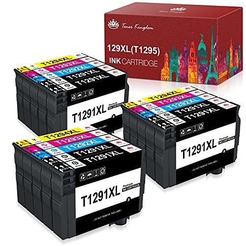 Toner Kingdom Cartucce d'inchiostro Compatibile per Epson T1295 T1291 T1292 T1293 T1294 per Epson Stylus SX235W SX425W SX525WD SX620FW WorkForce WF3520 WF7515 Stylus Office BX305FW BX525WD (15pk)