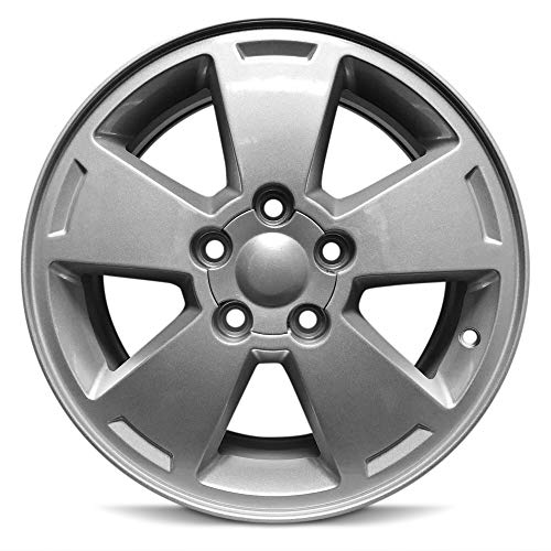 Road Ready Car Wheel for 2006-2012 Chevrolet Impala 2006-2007 Monte Carlo 16 inch 5 Lug Silver Aluminum Rim Fits R16 Tire - Exact OEM Replacement - Full-Size Spare