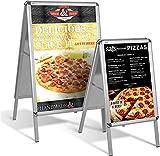 FEMOR Porte-Affiche, Shop Panneau d'Affichage, Stand de Tableau Tableau D'affichage, Stand de Trottoir Publicitaire, Porte-Affiche Publicité Support Publicitaire, Format A1(64X52X108cm)