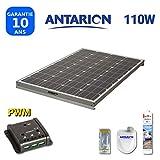 PAN110W - KIT Panneau Solaire pour Camping Car 110W ANTARION + RÉGULATEUR...