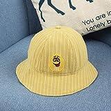 wtnhz Artículos de Moda Sombrero de Pescador de Sombra niños Coreano Lindo Sombrero de bebé Sonriente Sombrero de Olla para niñosRegalo de Vacaciones