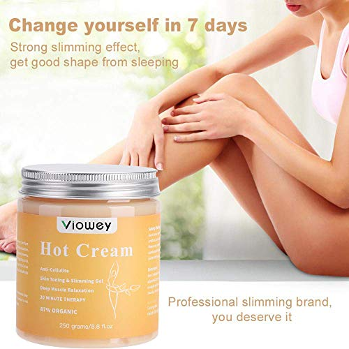 Hot Massage Cream, Cellulite Hot Cream, Body Slimming Firming Fat Burner for Tightening Skin Weight Loss Body Shaper, 8.8 Ounce 4