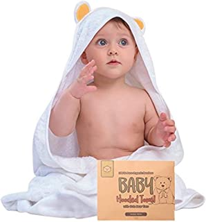Baby Hooded Towel – Bamboo Baby Towel by KeaBabies – Organic Bamboo Towel..
