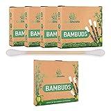 EcoShoots 400 o 1000 bastoncillos de algodón de bambú  ...
