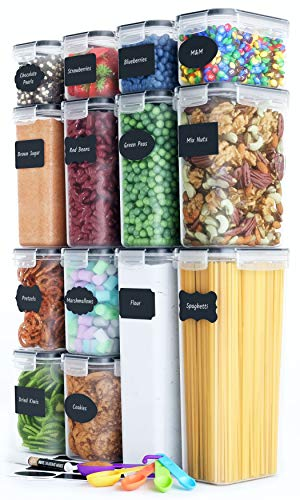 Chef's Path Airtight Food Storage Container Set - 14 PC - Kitchen...