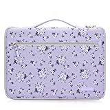 FYY 12-13.5' [Premium Leather] Laptop Sleeve Case Cover Bag for MacBook Pro/MacBook Air/iPad Pro 12.9 2018 2017 2016, Laptop Bag for 12'-13.5' Surface Lenovo Dell HP ASUS Acer Chromebook Purple