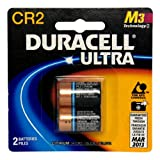 Duracell Ultra Lithium Battery 3V, CR2, 2 Batteries (Pack of 2)