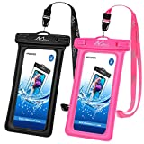 MoKo Floating Waterproof Phone Pouch [2 Pack], Floatable Phone Case Dry Bag with Lanyard Compatible with iPhone 11/11 Pro, X/Xs/Xr/Xs Max, 8/7/6 Plus, Galaxy S10/S9/S8 Plus, S10e, S20, Note 10/9/8