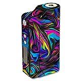 Skin Decal Vinyl Wrap for Sigelei 150W TC Temp Control watt Vape Mod Box / Neon Color Swirl Glass