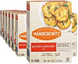 Manischewitz Potato Pancake Mix 6oz (12 Pack) Gluten Free, No MSG, Traditional Style Potato Latke Mix