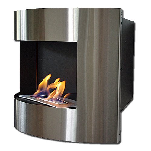 Deka Interieurbouw Corner Fireplace Diana Deluxe Black Ethanol Gel Stainless
