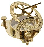 INDIA OVERSEAS TRADING CORP BR 48342X Brass Sundial Compass