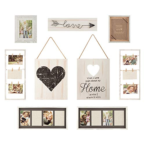 Gallery Perfect 17FW1938 Rustic Collage Gallery Wall Kit Picture...