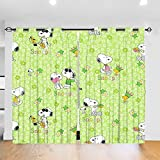 Dylan Simpsonm Snoopy Grommet Thermal Insulated Curtains Insulating Room Darkening(2 Panels)