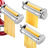 3 In 1 Pasta Maker Attachment for Kitchenaid Mixer, Washable Pasta Sheet Roller & Cutters with...