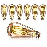 DASIAUTOEM Ampoule Edison Vintage, Ampoule LED Edison E27 Rétro Décorative...