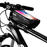 WILD MAN Bike Phone Mount Bag, Cycling Waterproof Front Frame Top Tube Handlebar Bag with Touch...