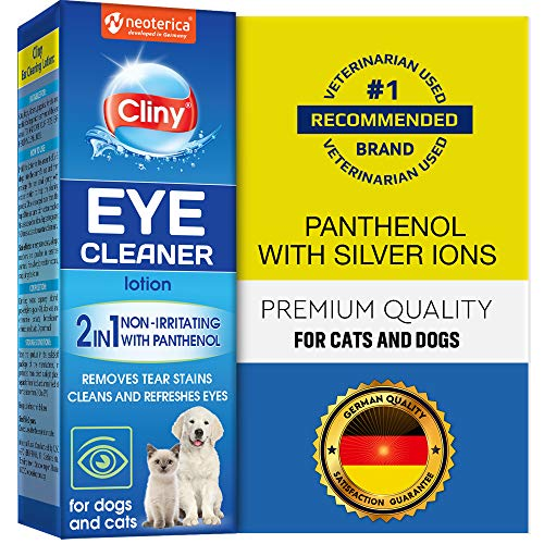 Cliny Universal Pet Eye Wash Cleaner for Dogs &...