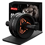 RHYTHM FUN Ab Roller for Abs Workout, 3.14in Ab Roller Wheel Exercise Equipment with Ab Mat,Ab Roller Set for Abdominal Exercise Ab Roller Machine for Women Men Core Abs Workout Equipment for Home Gym