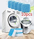UKKUER Effervescent Tablet Washer Cleaner,Solid Washing Machine Cleaner,Deep Cleaning Remover with Triple Decontamination for Bath Room Kitchen (10pcs)