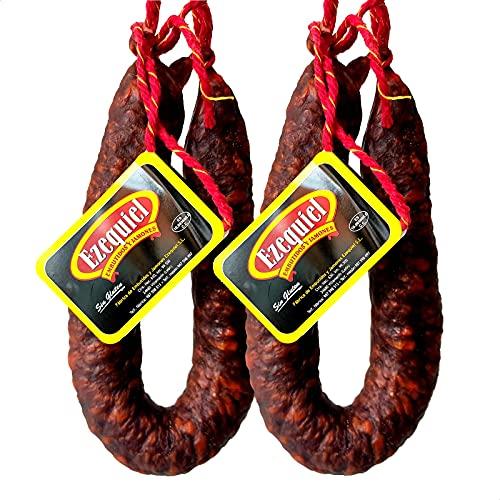 Embutidos Ezequiel Embutidos Ezequiel Pack Chorizo Extra Picante Curado Ahumado. Chorizo De León 2 Udes. 850 G 850 g