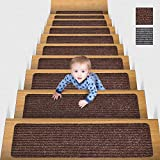 MBIGM Lot de 15 Marchettes d'escalier, 20 x 76 cm Tapis De sécurité...
