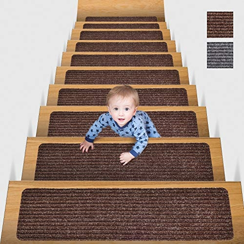 Best Stair Treads Buying Guide Gistgear   Elogio Carpet Stair Treads   Carpet Runners   Carpet Flooring   Skid Rubber   Pet Dog   Skid Resistant
