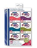 Staedtler FIMO Soft, Assortiment de 6 pains de pâte FIMO, Couleurs nature, 8023...