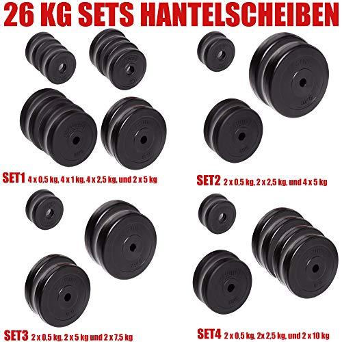 C.P. Sports | Halterschijven-set | 30/31 mm | 26 kg | Krachttraining, fitness en bodybuilding