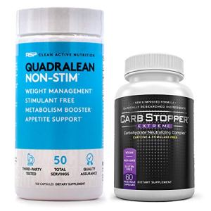 RSP Quadralean 2.0 Bundled with Carb Stopper Extreme - The Most Powerful Fat Burning Combination for Weight Loss | Melt Away Belly Fat, Block Sugars and Starches with Keto Friendly Diet Supplements 6 - My Weight Loss Today