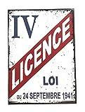 udc Editions du sud Plaque Vintage décorative cartonnée Licence IV 12x17cm