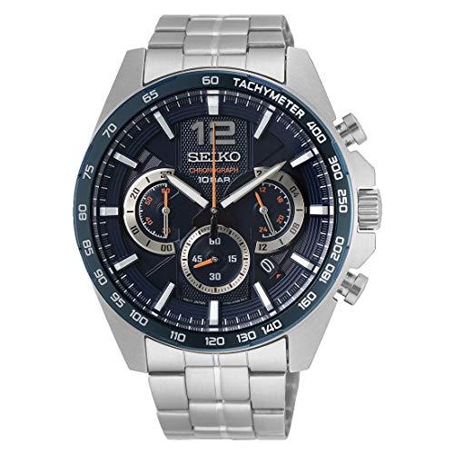 Seiko Chronograph Herren-Uhr Edelstahl mit Metallband SSB345P1